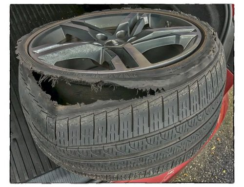 Be careful, your tires are hot!