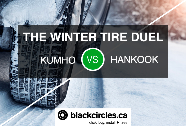 THE WINTER TIRE DUEL: KUMHO VS HANKOOK, tires on a snow road