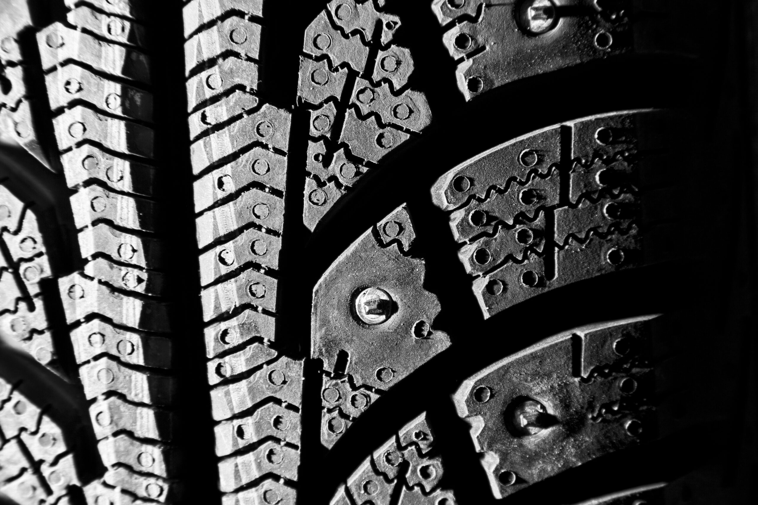 close-up of a winter tire